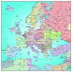 Fototapeta Mapa administracyjna Europy - produkt dostępny w REDRO