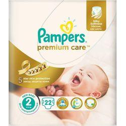 Pieluchy jednorazowe PAMPERS Premium Care 2 Mini 3-6 kg (22 sztuki) (4015400687733)