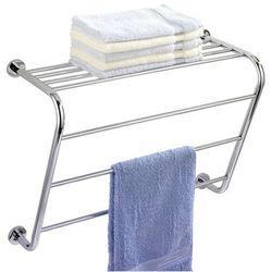Wenko Wieszak na ręczniki power-loc elegance + półka łazienkowa, 2 w 1 (4008838178133)