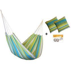 Zestaw hamakowy HW w kolorze 204 z poduszkami i zestawem montażowym, lemon HW-PZS-204