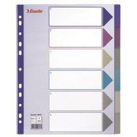 Esselte Przekladki indeksujące  multicolor maxi a4/6kart, 20647, kategoria: segregatory i akcesoria