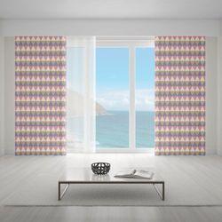 Zasłona okienna na wymiar - MULTITRIANGLES PASTEL