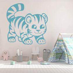 Naklejka na ścianę dla dzieci tygrysek 2406