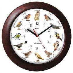 Duży drewniany zegar z głosami ptaków #2 marki Atrix
