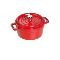- naczynie żeliwne okrągłe 24 cm czerwone 3272341024060 marki Staub
