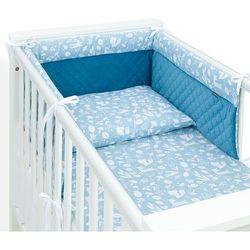 3-el pościel do łóżeczka 70x140 lux velvet pik - las jeansowy / jeans marki Mamo-tato
