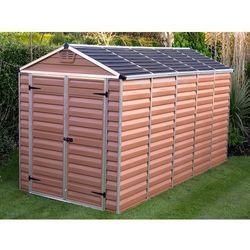 Domek plastikowy ogrodowy skylight 6x12 brązowy - transport gratis! marki Palram
