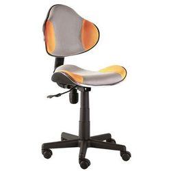 Fotel Q-G2 Pomarańczowy Szary
