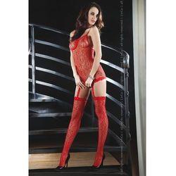 Catriona seksowne bodystocking o oryginalnym kroju, czerwień - czerwony od producenta Livia corsetti