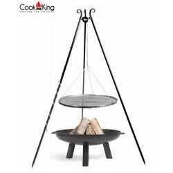Zestaw 3w1 grill stal czarna 60cm + palenisko POLO 70cm
