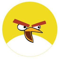 Dekoracyjny opłatek tortowy Angry Birds - 20 cm - 7