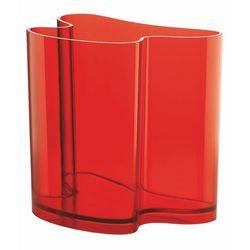 Gazetnik   Wazon Guzzini Isola transparentny czerwony, 28930165