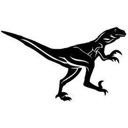 Szablon malarski z tworzywa, wielorazowy, wzór dla dzieci 26 - dinozaur velociraptor marki Szabloneria
