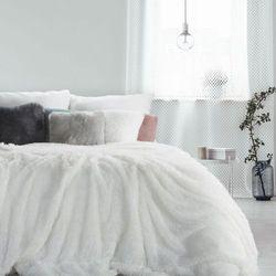 Eurofirany Koc narzuta włochacz tiffany 150x200 biały