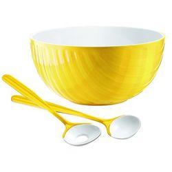 Komplet do sałatek mirage, czerwony - żółty marki Guzzini
