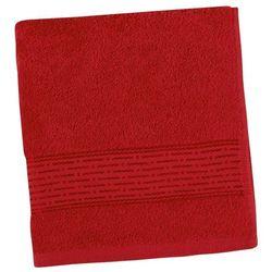Ręcznik kąpielowy kamilka pasek czerwony, 70 x 140 cm marki Bellatex