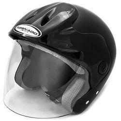 Kask motocyklowy TORNADO CL - CZARNY + DARMOWY TRANSPORT! - produkt z kategorii- kaski motocyklowe