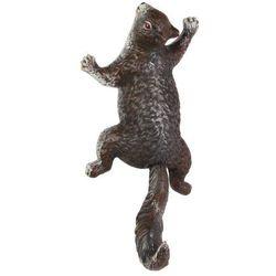 Żeliwny wieszak wiewiórka w kolorze brązu marki Moodgood