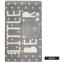 SELSEY Dywan do pokoju dziecięcego Dinkley Mały Miś szary 100x160 cm (5903025554785)