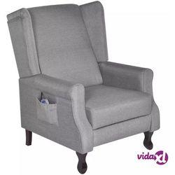 Vidaxl fotel masujący, szary, tkanina