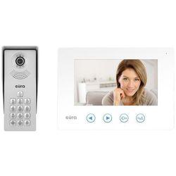 """Wideodomofon """"eura"""" vdp-12a3 """"tytan"""" biały kolor 7"""" otwieranie 2 wejść pamięć wewnętrzna szyfrator marki Eura-tech"""
