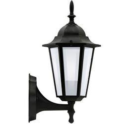 Sanico Kinkiet lampa ścienna polux liguria 1x60w e27 ip43 czarna alu1047i