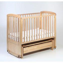 de lux glider cot drewniane łóżeczko z funkcją kołyski 120x60 naturalne marki Troll nursery