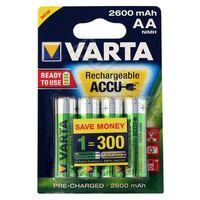 4 x akumulatorki  pro r2u r6 aa 2600mah, marki Varta