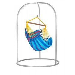 Zestaw hamakowy: fotel hamakowy sonrisa ze stojakiem romano, niebiesko-fioletowy snc14roa16 marki La siesta