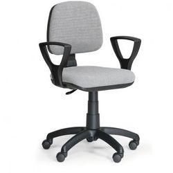 Biurowe krzesło milano z podłokietnikami - szare marki B2b partner