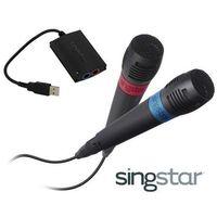 MIKROFONY SINGSTAR SONY+ADAPTER USB PS2/PS3/PS4