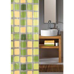 Kleine Wolke zasłona prysznicowa SONNY 180 x 200 cm, zielona kratka
