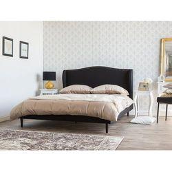 Beliani Łóżko czarne tapicerowane 160 x 200 cm colmar (4260602374633)