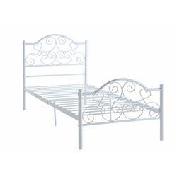 Vente-unique Łóżko leyna - 90 × 190 cm - metal - biały