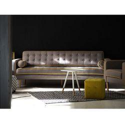 Kanapa szara - sofa - wypoczynek - tapicerowana - nowoczesna - FLAM z kategorii Sofy