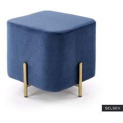 SELSEY Pufa Moli na złotych nogach granatowa, kolor niebieski