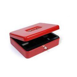 Kasetka metalowa na pieniądze HF-M300A czerwona, ARG606104