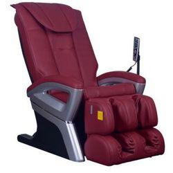 Fotel masujący CRIOS z obiciem skóropodobnym - Czerwony