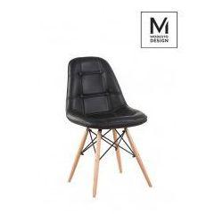 Modesto design Modesto krzesło tapicerowane ekos wood czarny - ekoskóra, podstawa bukowa