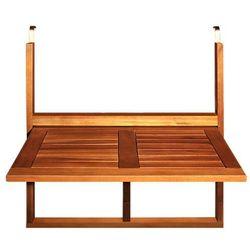 STÓŁ BALKONOWY PODWIESZANY DREWNIANY SKŁADANY - produkt z kategorii- Krzesła ogrodowe