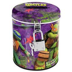 Starpak, Wojownicze Żółwie Ninja, skarbonka metalowa, okrągła z kategorii artykuły szkolne i plastyczne