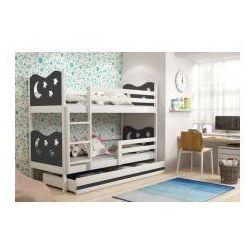 30 Łóżko piętrowe miko 2 90x200 z materacami