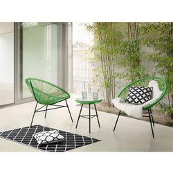 Meble ogrodowe zielone - balkonowe - stół z 2 krzesłami - ACAPULCO (7081457989516)
