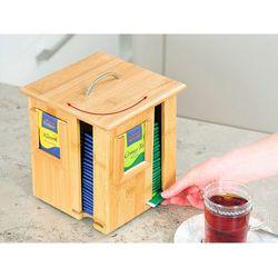 Obrotowa skrzynka na herbatę z bambusa, pojemnik do kuchni, pudełko na herbatę, pojemnik na żywność, akc