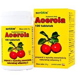Acerola 500mg 100 tabletek (lek Witaminyi minerały)