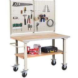 Mobilny stół roboczy solid 400, 1500x800 mm, dąb marki Aj produkty