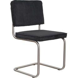 Zuiver  krzesło ridge brushed rib czarne 7a 1100078