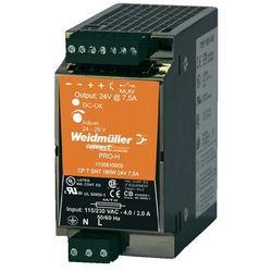 Zasilacz na szynę DIN Weidmueller CP T SNT 180W 24V 7,5A 1105810000, 7.5 A, 180 W - produkt z kategorii- Tran