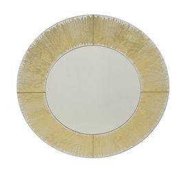 Vente-unique Okrągłe lustro gulliver - śr. 80 cm - złoty