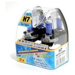 Żarówki samochodowe  12 v h7 100w white laser 2 szt, marki Compass